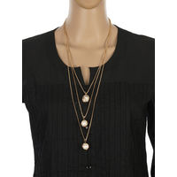 One Stop Fashion Artistic and Smart Gold Colour Alloy Long Neckpiece for Girls & Women, 25, gold