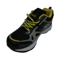 VoMax Men's Synthetic Sports shoes, 10, black & yellow