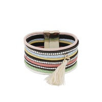 One Stop Fashion Fashionable Multi Colour Foam Leather Bracelet for Girls & Women, 38, multicolour