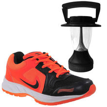 Buy Finley Running Shoes with Solar Lamp in just Rs. 70, orange, 6
