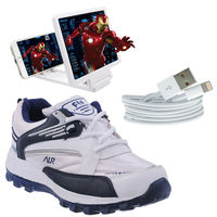 Buy Finley Running Shoes with Magnifire and USB cable in just Rs. 70, iphone cable, 7