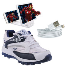 Buy Finley Running Shoes with Magnifire and USB cable in just Rs. 70, usb cable, 6