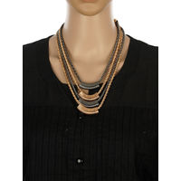 One Stop Fashion Awesome Designer Gold and Grey Colour Neck Piece for Girls & Women, 75, gold and grey