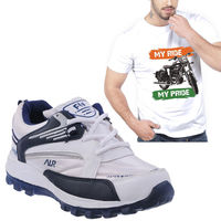 Buy Finley Running Shoes with Branded Tshirt in just Rs. 70, xl, 7