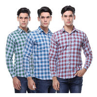 Buy Combo Of 3 Check Slim Fit Men's Shirts Just Rs. 599, xl