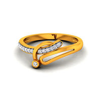 Diamond Ring In 18Kt Yellow Gold (2.88 gms) with Diamonds (0.13 Ct SI-GH)