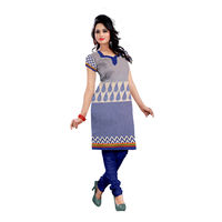 Anshul Textile Cotton Printed Kurti Fabric (Un-stitched), multi