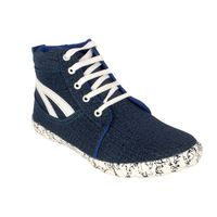 Amit fashion blue color canvas shoes, blue, 7