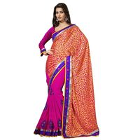 Floral Embroidered Brsso Georgette Saree