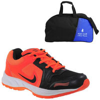 Buy Finley Running Shoes with Duffel Bag in just Rs. 70, orange, 7