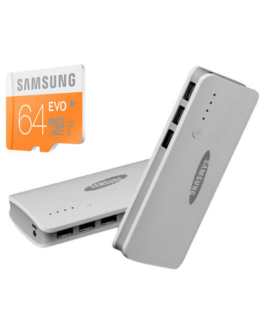 Buy Samsung Evo 64GB Memory Card With Samsung 16800mAh power bank in Just Rs. 799