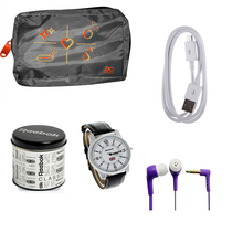 Buy Reebok Watch, Ear phone, Data cable & Bag Just Rs. 199