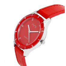 FNB Red Dial Analouge Watch For women Fnb-0100, genuine leather, red