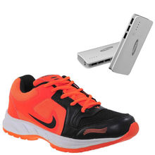 Buy Finley Running Shoes with Samsung/Mi 16800mAh Powerbank in just Rs. 70, orange, 6
