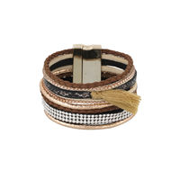 One Stop Fashion Exclusive Brown Colour Foam Leather Bracelet for Girls & Women, 38, multicolour