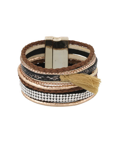One Stop Fashion Exclusive Brown Colour Foam Leather Bracelet for Girls & Women