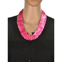 One Stop Fashion Elegant and Exclusive Pink Colour Shell Neckpiece for Girls & Women, 120, pink
