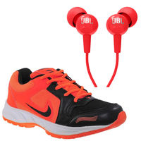 Buy Finley Running Shoes with JBL Earphone in just Rs. 70, orange, 6