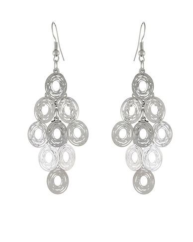 One Stop Fashion Stunning Silver Colour Alloy Ear Hangings for Girls & Women