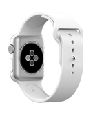 Silicone Sport Replacement WristBand Strap for Apple Watch 38mm - White