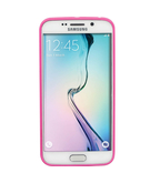 Promate Amos-S6E Samsung Galaxy S6 Edge Case Premium Impact Resistant Snap-On Shell - Pink