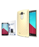 Rearth Ringke Slim Frost Premium Case Cover & Ozone Screen Protector for LG G4 - Yellow,  Yellow