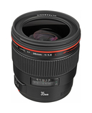 Canon EF 35mm F1.4L USM,  Black, 35mm