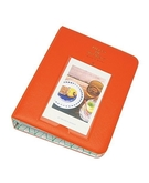 64 Pockets 3 Inch Piece of Moment Candy Color Fuji Instax Photo Mini Book Album or Name Card for Instax Mini 70 7s 8 25 50s 90 (Orange)