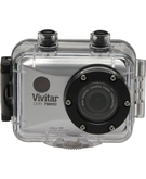 Vivitar Action Camera-786 Full Hd Video 1080P with Enerplex Rechargeable Battery 7800,  Silver