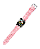Crocodile Skin Leather Wristband Strap for Apple Watch 38mm - Pink