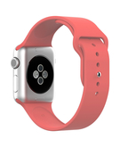 Silicone Sport Replacement WristBand Strap for Apple Watch 42mm - Watermelon Red