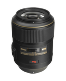 Nikon AF-S VR Micro 105mm F/2.8G IF-ED,  Black, 105mm