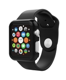 PC Clip-On protective cover shell for Apple Watch 38mm - Black