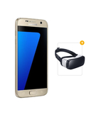 Samsung Galaxy S7 Edge Dual SIM With FREE Samsung Gear VR Virtual Reality Headset,  Gold
