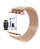 Stainless Steel Mesh Band strap with Screen protector for Apple Watch 38mm Rose Gold