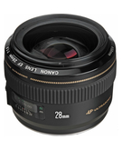 Canon EF 28mm F1.8 USM,  Black, 28mm