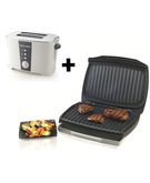 Black & Decker Bundle - 1750W Contact Grill Waffle Maker - GM1750-B5+ Black & Decker 2 Slice Cool Touch Toaster - ET122-B5