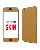 Stylizedd Premium Vinyl Skin Decal Body Wrap for Apple iPhone 6S - Brushed Gold