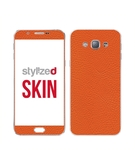 Stylizedd Vinyl Skin Decal Body Wrap for Samsung Galaxy A8 (2016) - Fine Grain Leather Orange