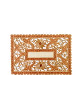 Ratios Brown Cutwork Table Mats (Set Of 6)