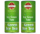Teas of All Nations Icy Green Tulsi Green Tea Ice with Tulsi Taste Loose Leaf Set of 2 (59028), 50 gm