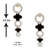 Spargz Designer Gold Plated Earring Studded With Ad Stone AIER 248