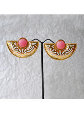 Golden And Pink Colour Earing