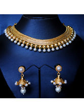 Golden And White Beads Set
