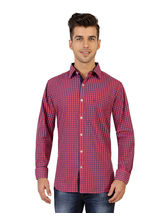 Jazzup Casual Shirts For Men (KZX-KLP1005), pink, l