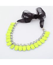 Rugged Look Necklace For Casual Wear, Florescent Yellow