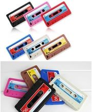 Silicone Cassette Case For IPhone 4/4S, Blue