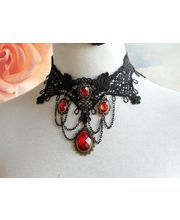 Intricately Desinged Gothic Necklace, Black