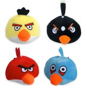 Nunbell Angry Bird Plush Squeaky Soft Toys for Pets, blue