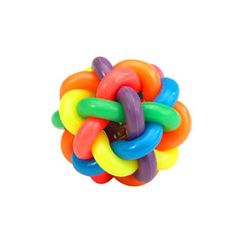 Multi Colour Musical Ball Pet Toy, large, 4 inch